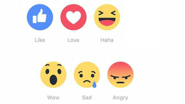 nieuwe vind-ik-leuk knoppen facebook
