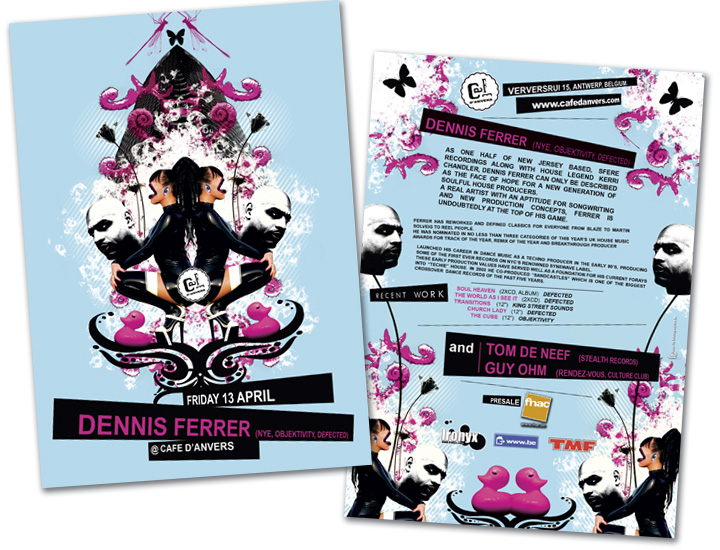 Café d'Anvers flyer A5 Dennis Ferrer