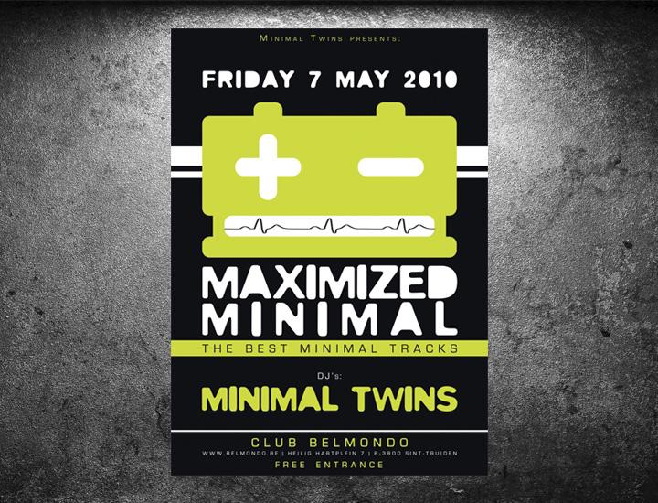 Maximized Minimal affiche eventaankondiging