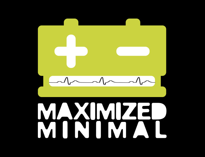 Maximized Minimal ontwerp logo