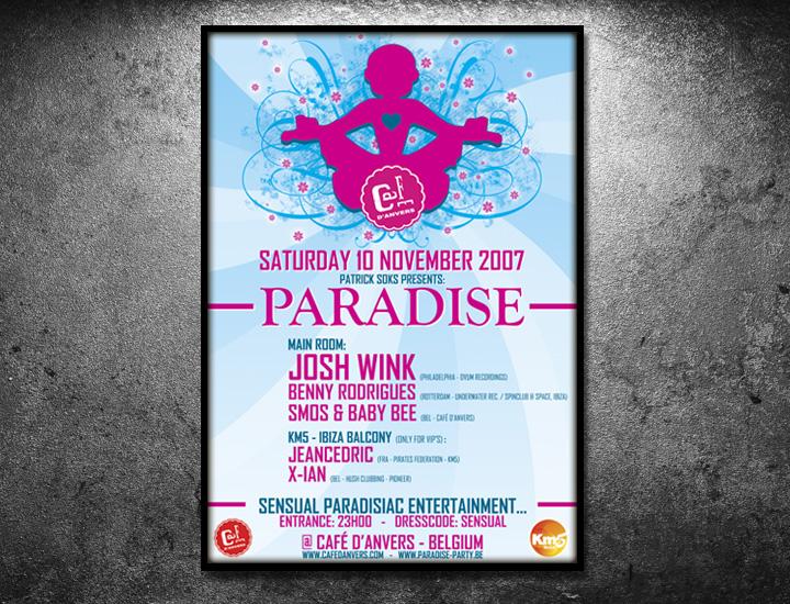Paradise Café d'Anvers affiche Josh Wink