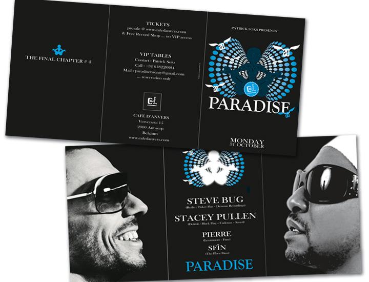 Paradise Café d'Anvers flyer