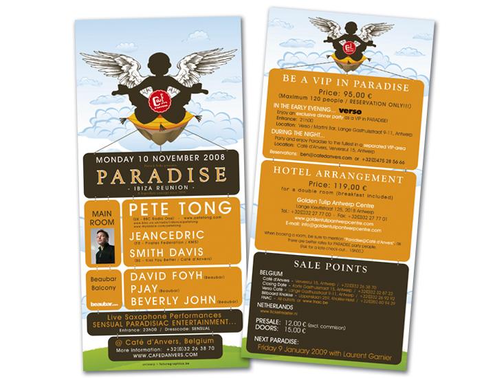 Paradise Café d'Anvers flyer US format