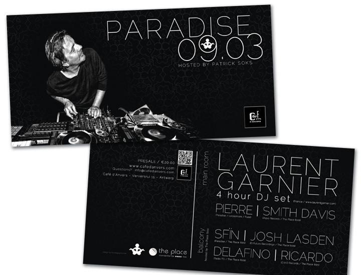 Paradise Café'd'Anvers flyer US formaat spotlak