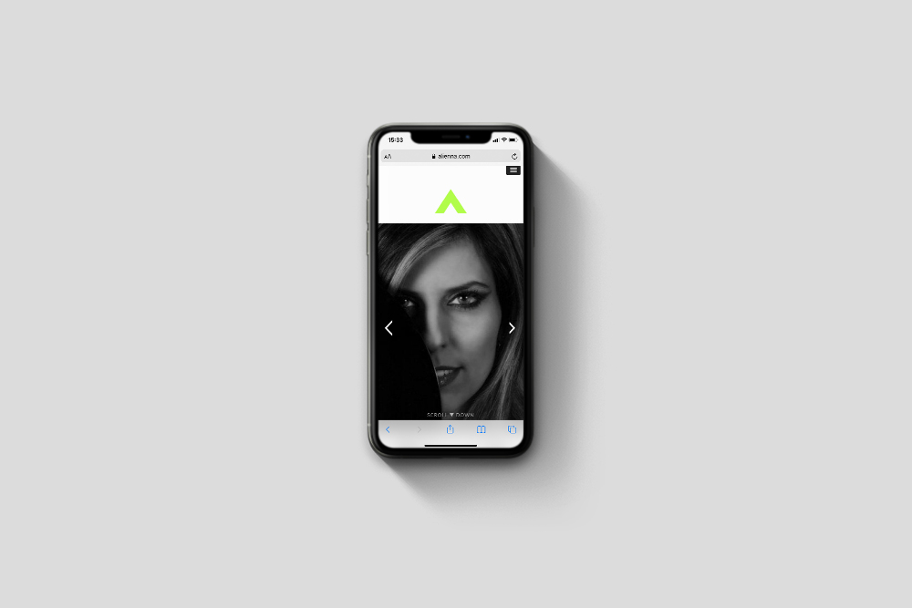 Alienna responsive website
