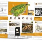 Stad Diest brochure kruisvouw over Warandepark