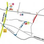 stratenplan Future Graphics Hasselt tijdens wegenwerken
