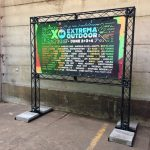 Extrema Outdoor Belgium - spandoek in truss systeem