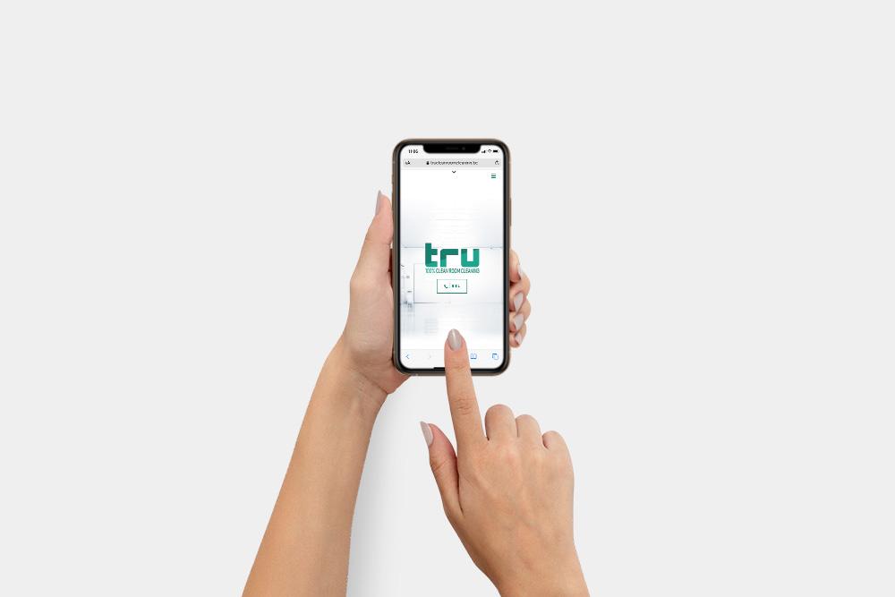 Tru Cleanroom Cleaning mobielvriendelijke website