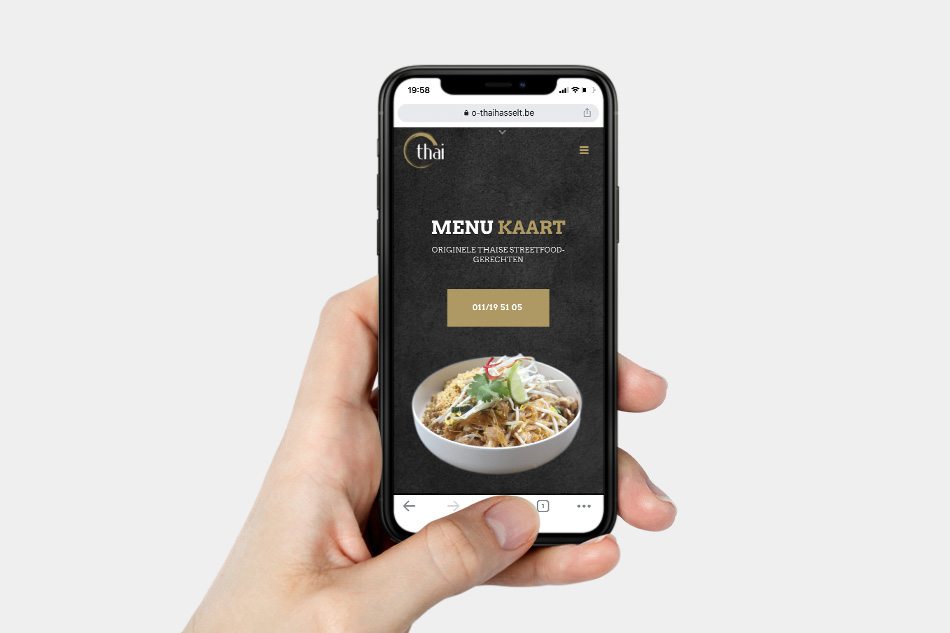 O-Thai Hasselt - mobielvriendelijke website