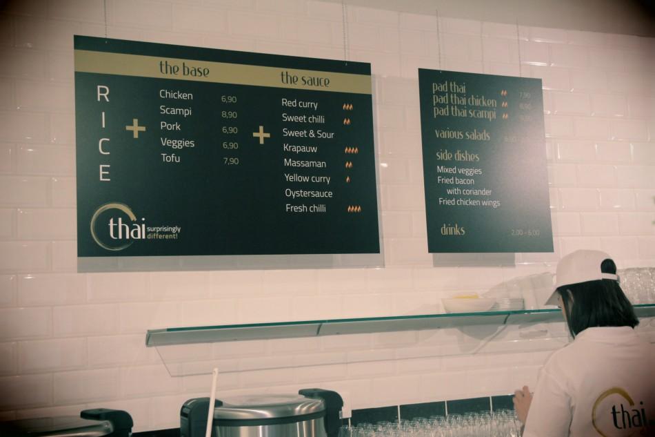 O-Thai menuborden