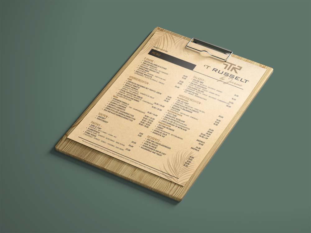 't Russelt menukaart