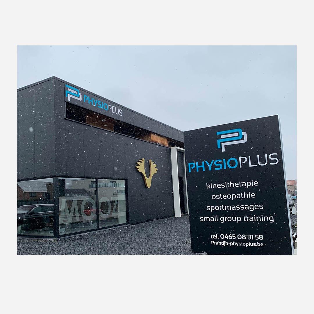 PhysioPlus - reclamebord, reclamepaneel