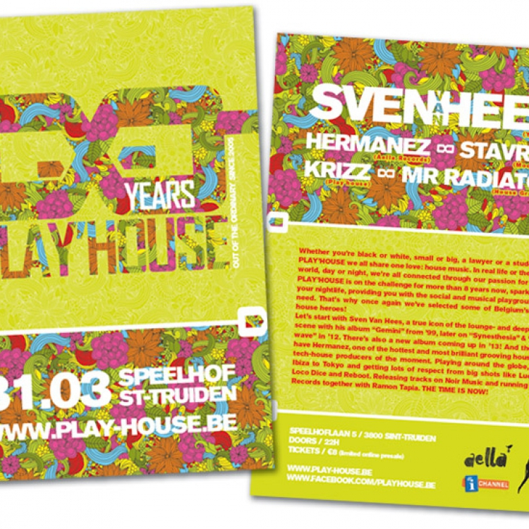 8 jaar Play'house A5 flyer