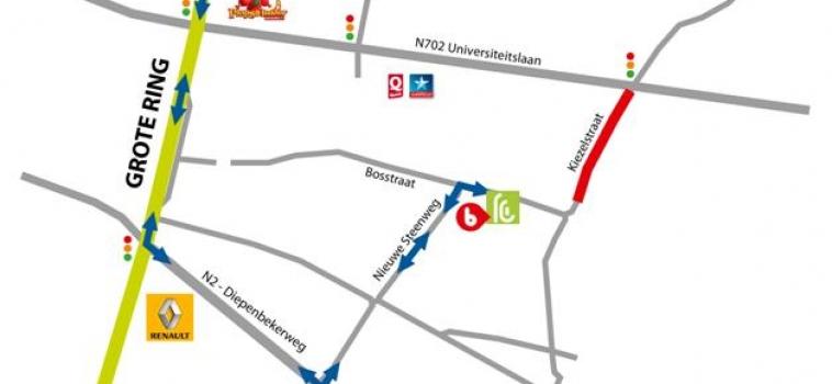 Bereikbaarheid tijdens wegenwerken Kiezelstraat Hasselt