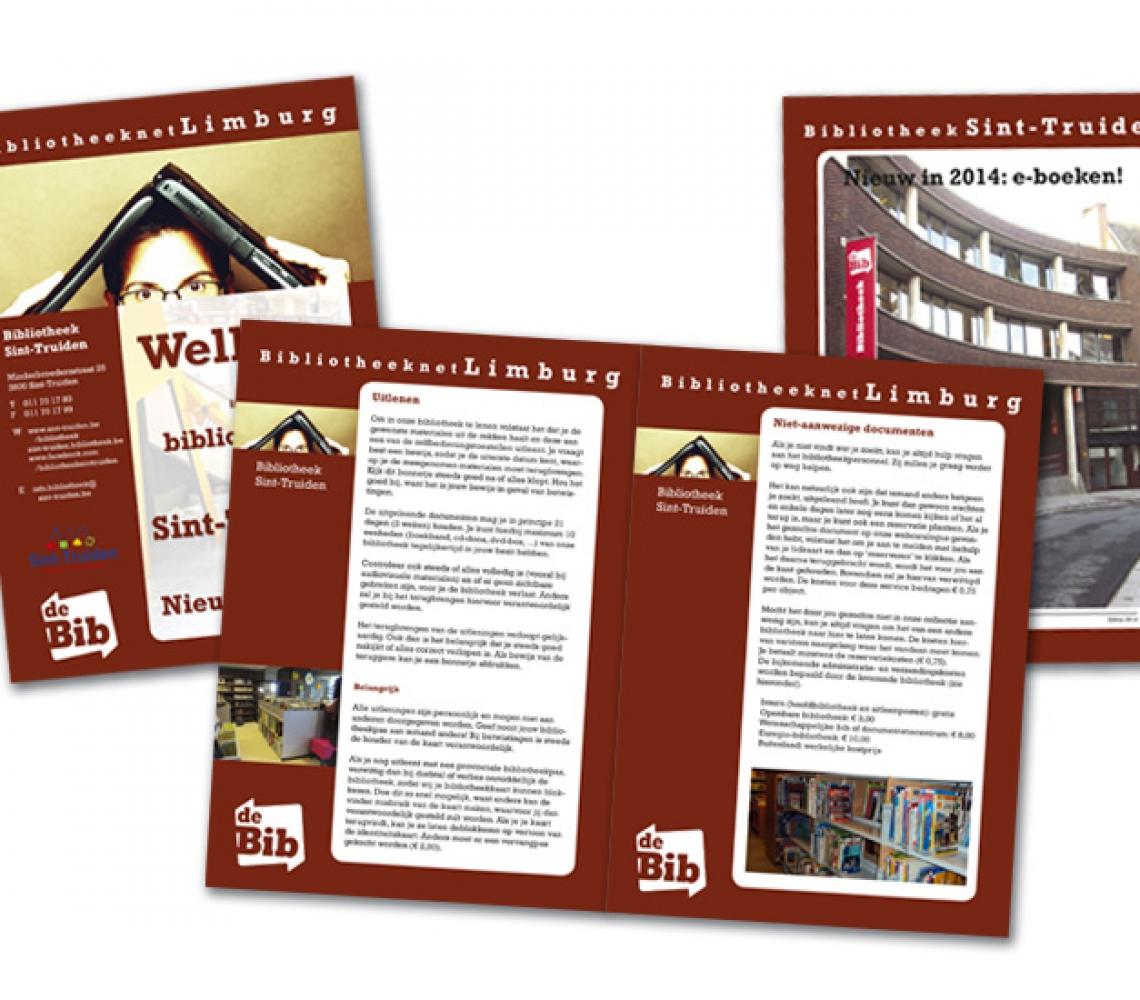 Bib Sint-Truiden informatieve brochure A5 over bibliotheek en diensten