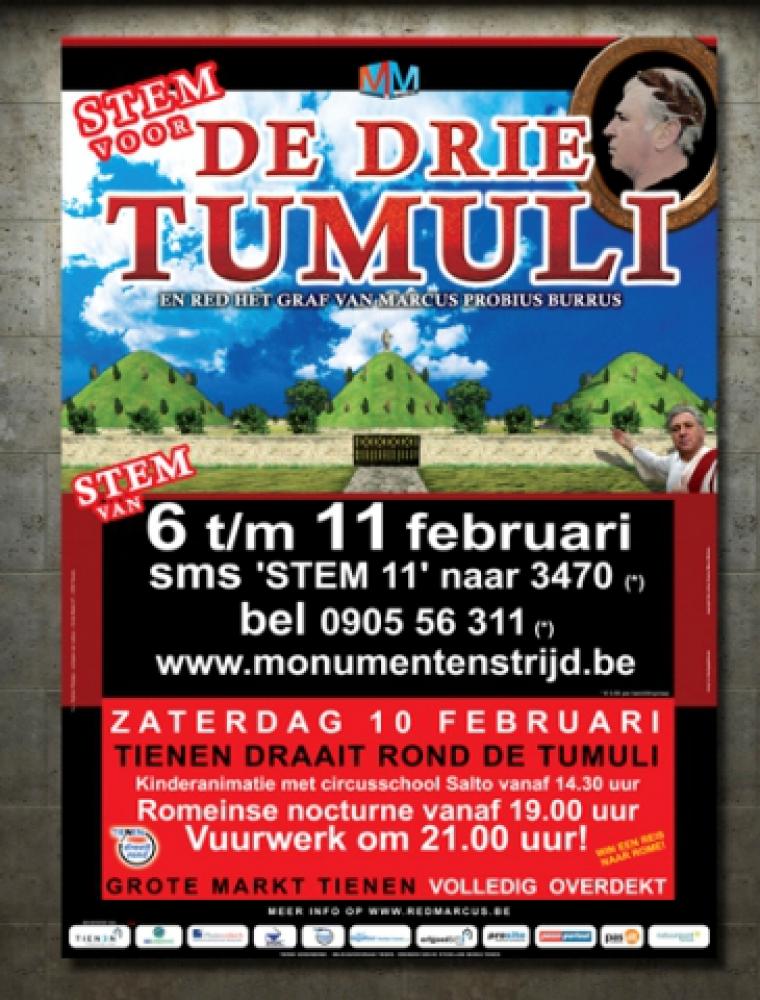 De drie tumuli campagne affiche