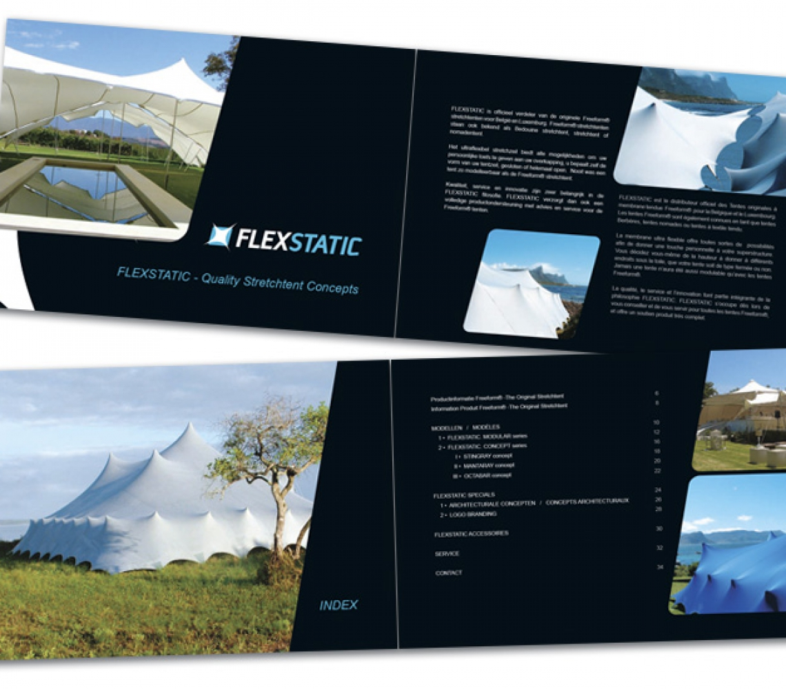 Flexstatic brochure A5 formaat – inlage