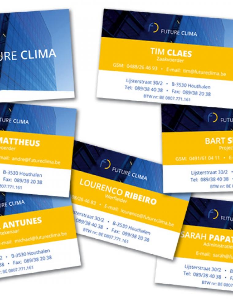 Future Clima Naamkaartjes