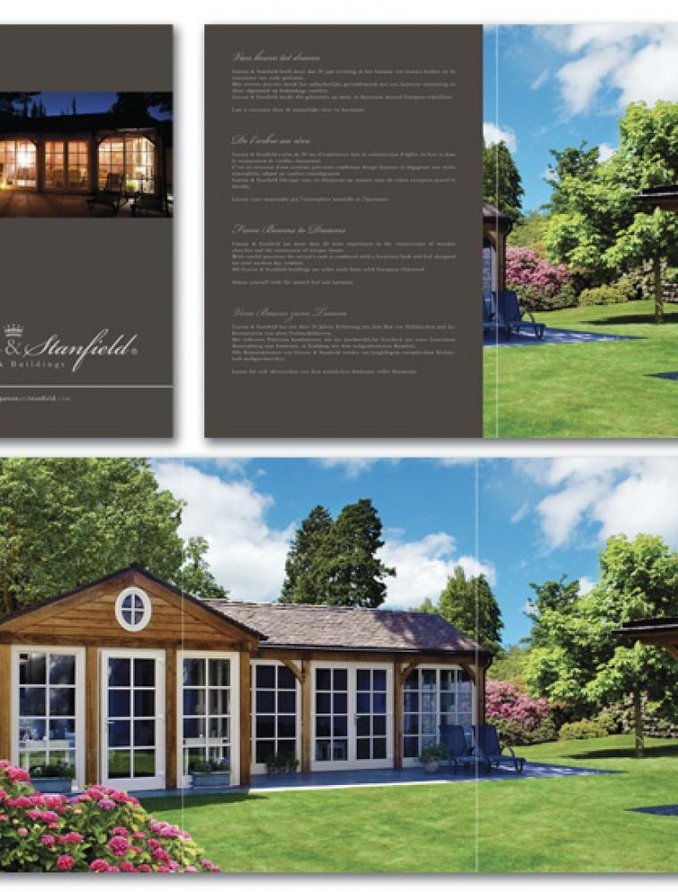 Garson&Stanfield A4 brochure, voorkant naar binnen plooiende zijdflap