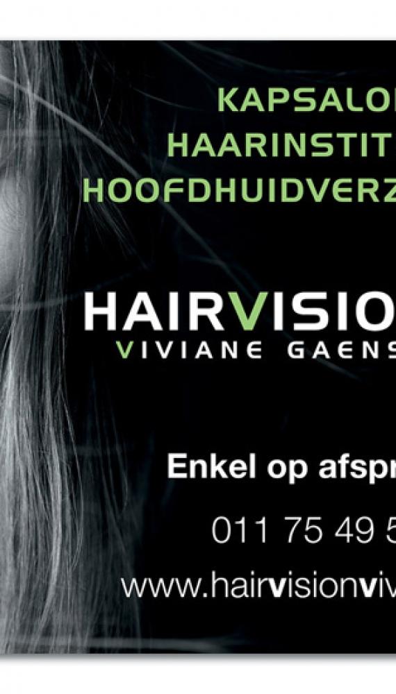 Hairvision Viviane Gaens deursticker