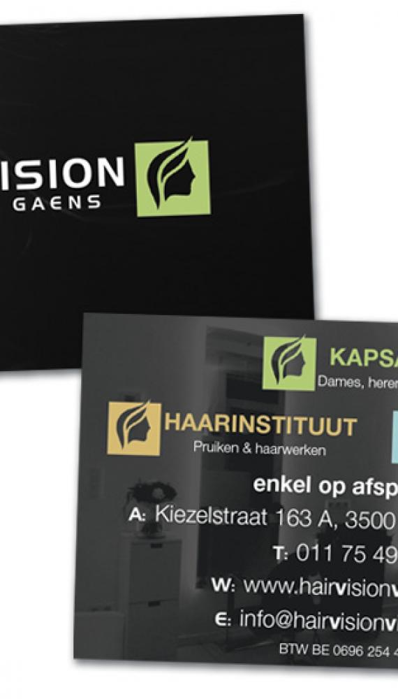 Hairvision Viviane Gaens naamkaartje