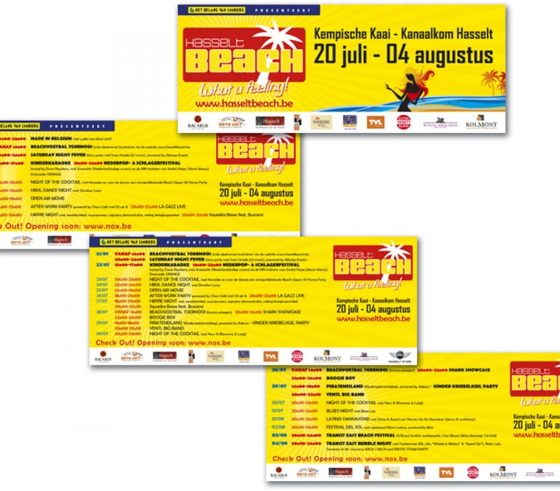 HasseltBeach advertenties Het Belang van Limburg