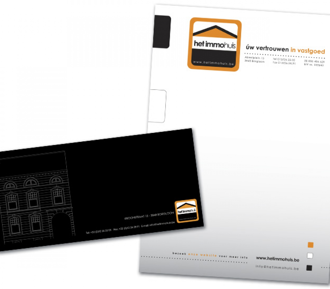 Het Immohuis US postcard & briefhoofd
