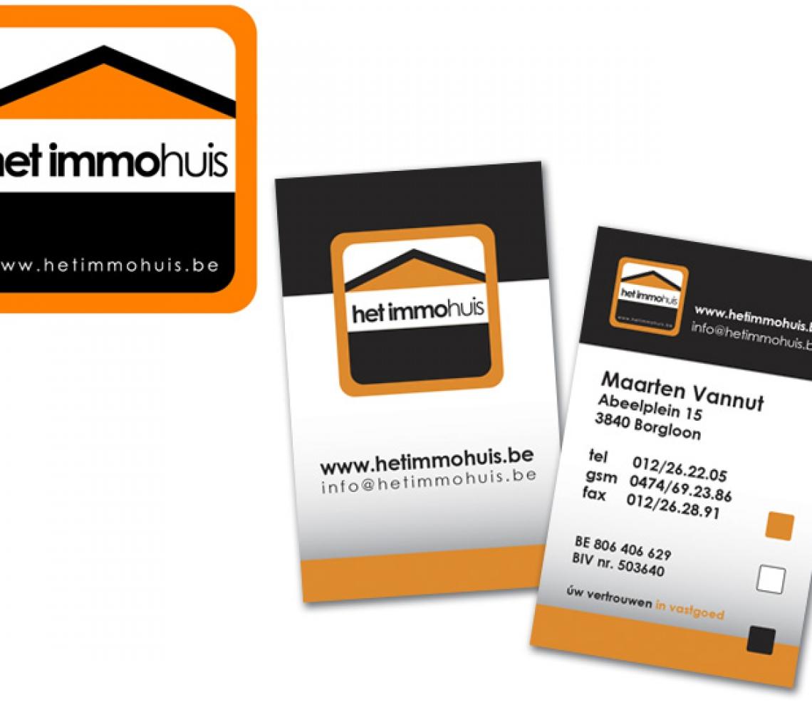 Het Immohuis logo & naamkaartje