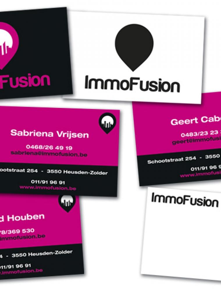 ImmoFusion naamkaartjes met spotlak