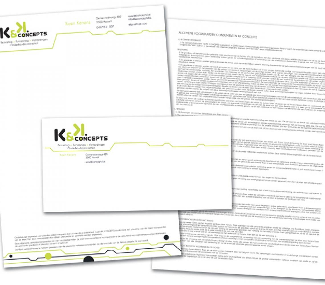 K&K Concepts briefhoofd & enveloppe