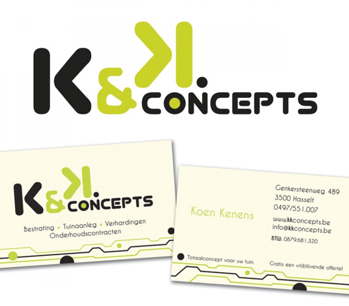 K&K Concepts logo ontwerp & naamkaartje