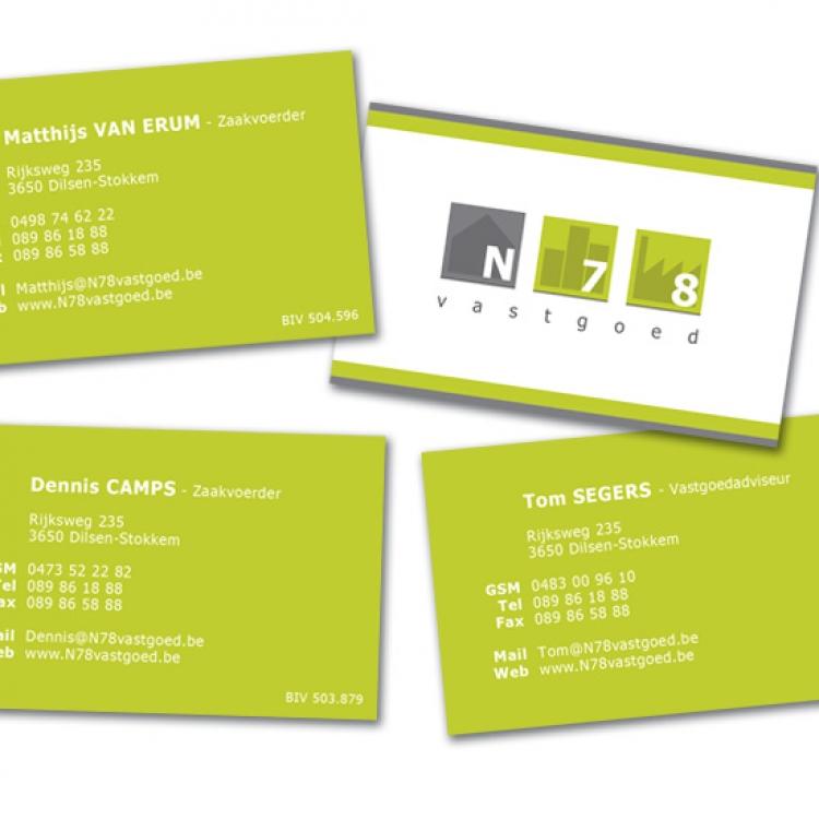 N78 vastgoed naamkaartjes