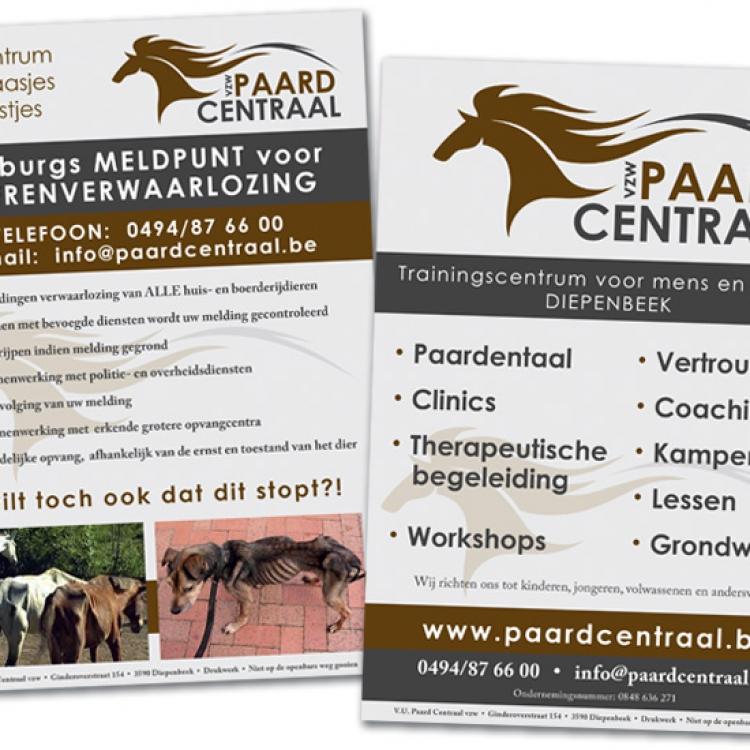 Paard Centraal A5 flyer omschrijving organisatie