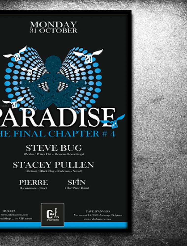 Paradise Café d'Anvers affiche Steve Bug