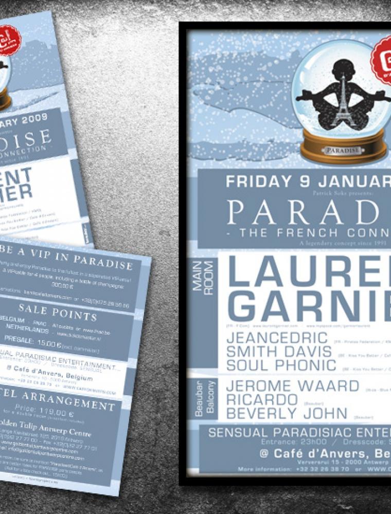 Paradise Café d'Anvers affiche & flyer Laurent Garnier