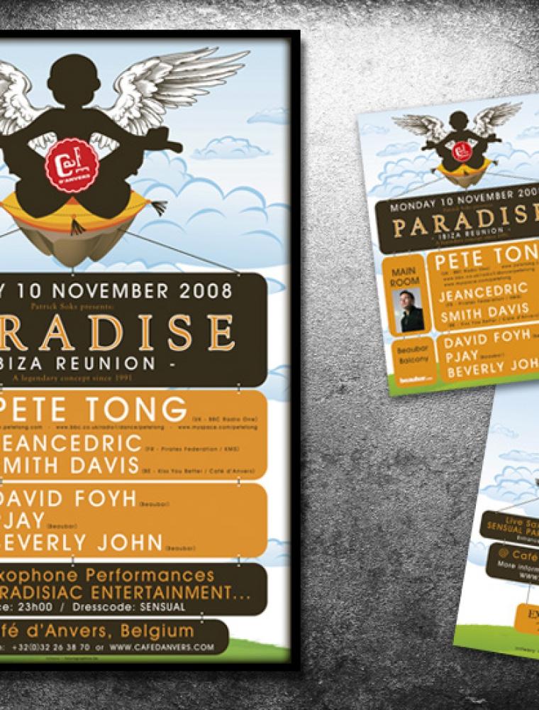 Paradise Café d'Anvers affiche & presale ticket