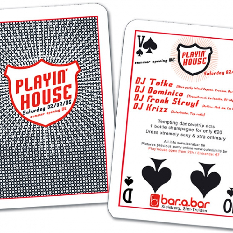 Play'house A6 flyer eventaankondiging 01