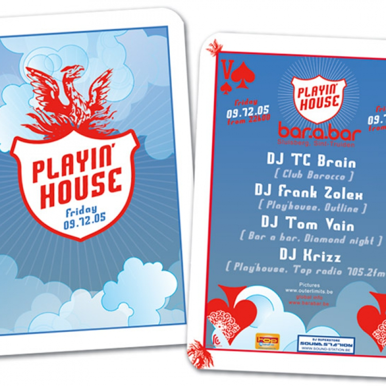 Play'house A6 flyer eventaankondiging 03