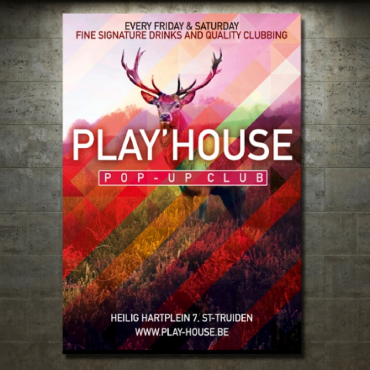 Play'house pop-up club affiche