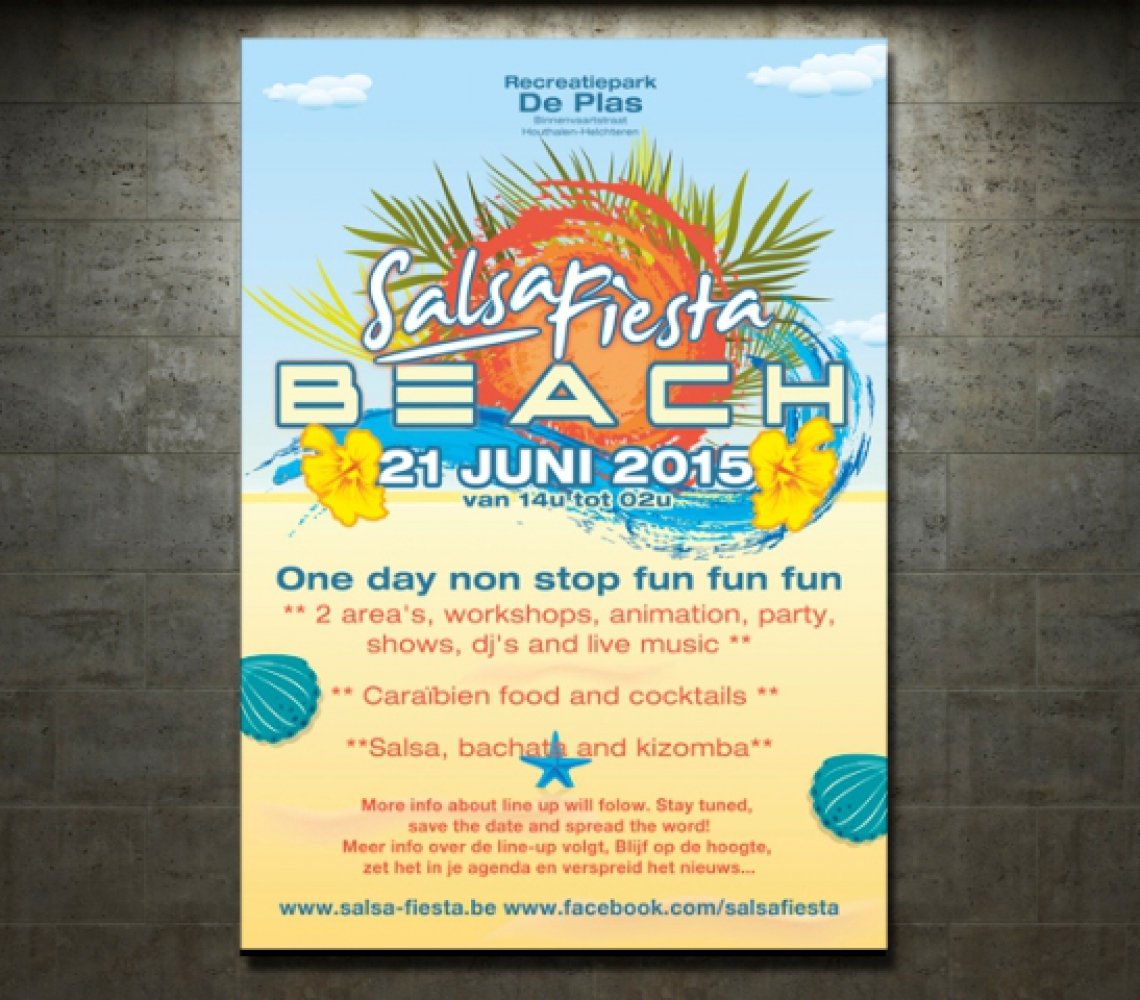 Salsa Fiesta Beach affiche
