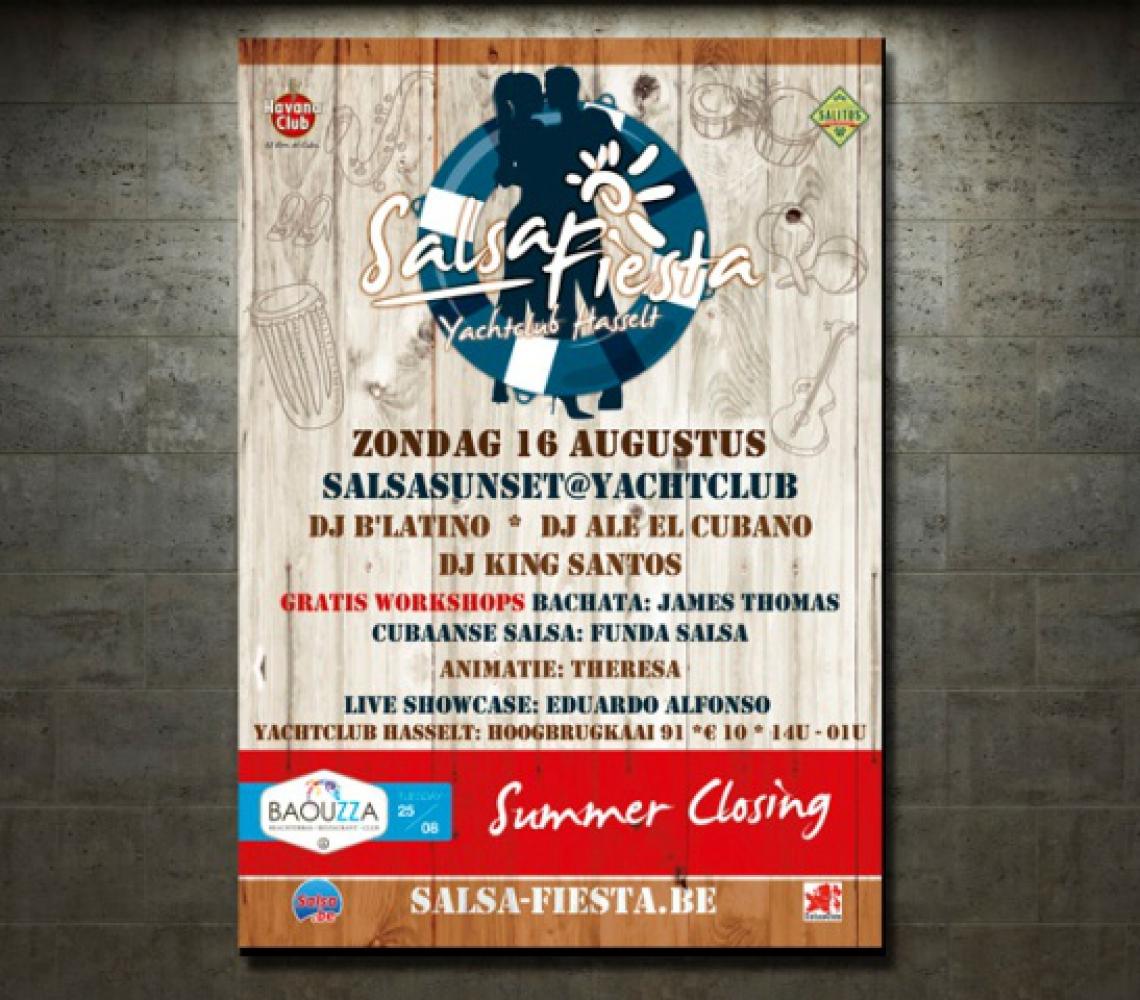Salsa Fiesta Yachtclub affiche