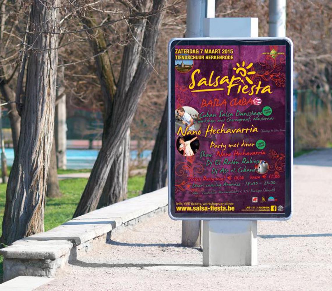 Salsa Fiesta affiche Baila Cuba