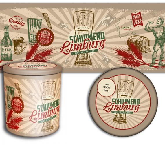Schuimend Limburg ontwerp rond tinnen blik