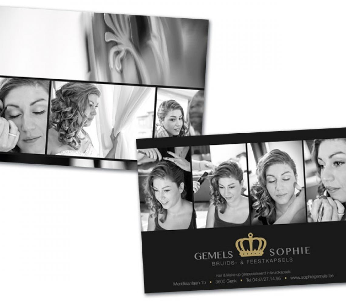 Sophie Gemels A5 flyer met spotlak
