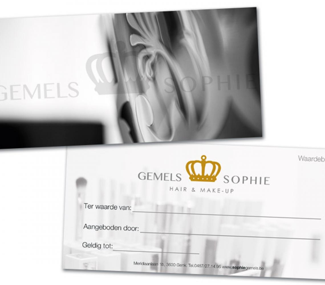 Sophie Gemels Waardebon US formaat, met spotlak