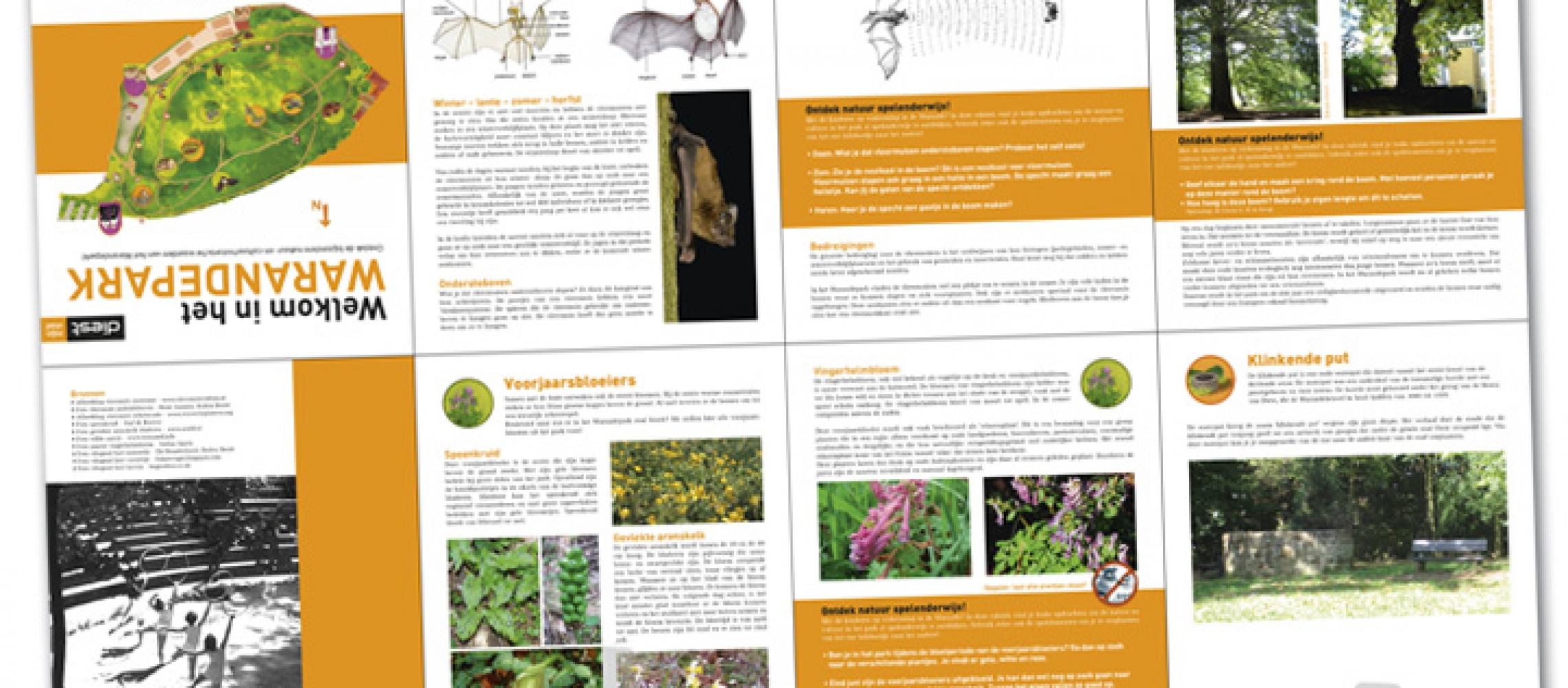 Stad Diest Informatieve brochure kruisvouw (dicht A5 formaat) over Warandepark