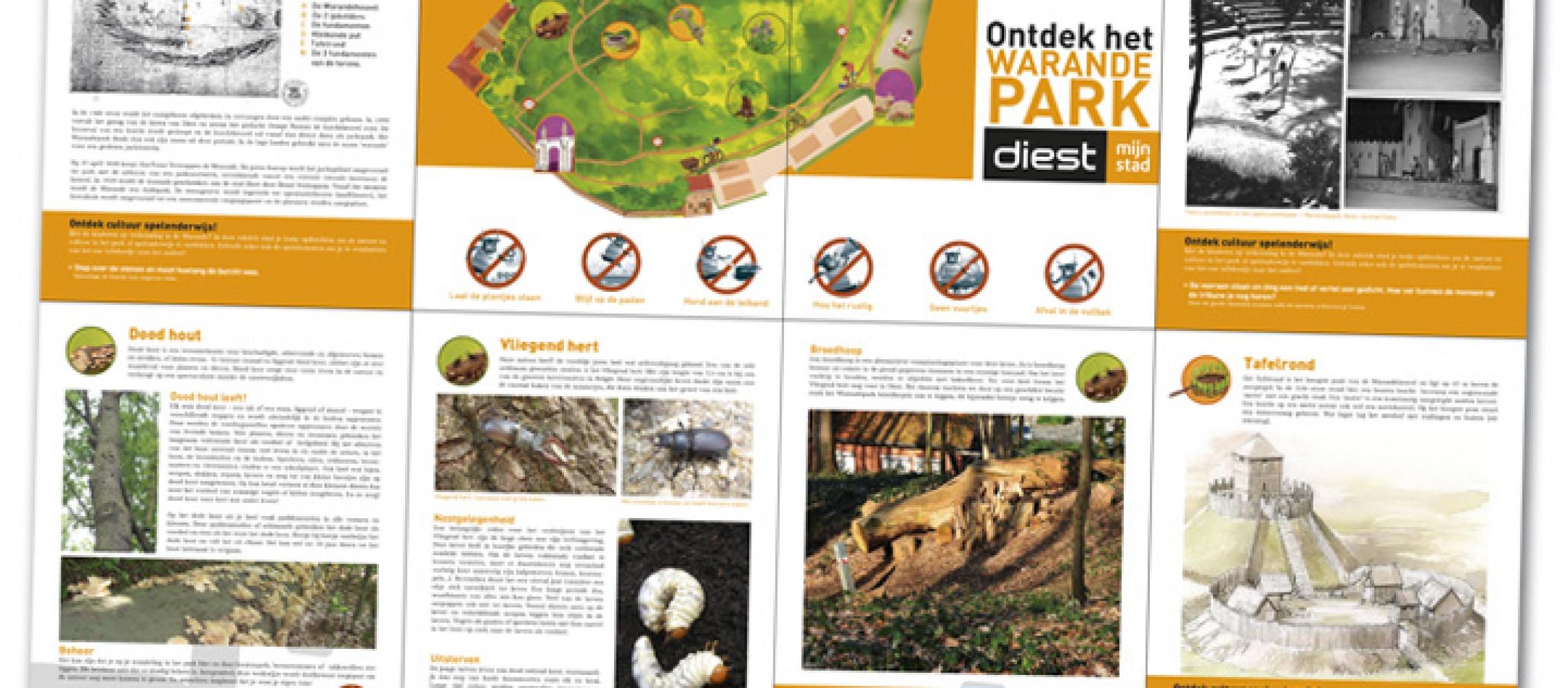 Stad Diest informatieve brochure kruisvouw (dicht A5 formaat) over Warandepark (2)