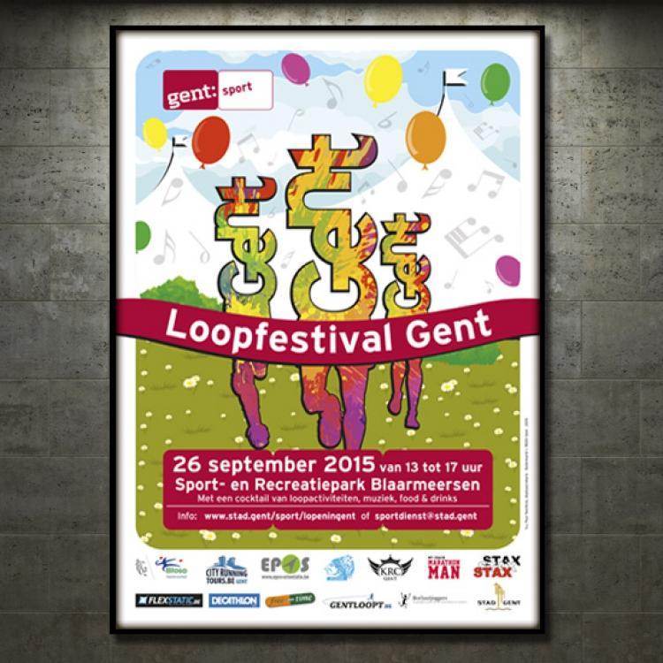 Stad Gent-Loopfestival campagne - Affiche