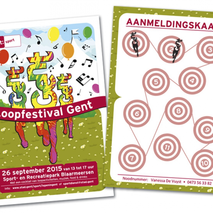 Stad Gent-Loopfestival campagne - Stempelkaart looproute + stempel